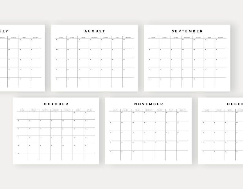2021 Monthly Calendar Printable Wall Calendar Desk