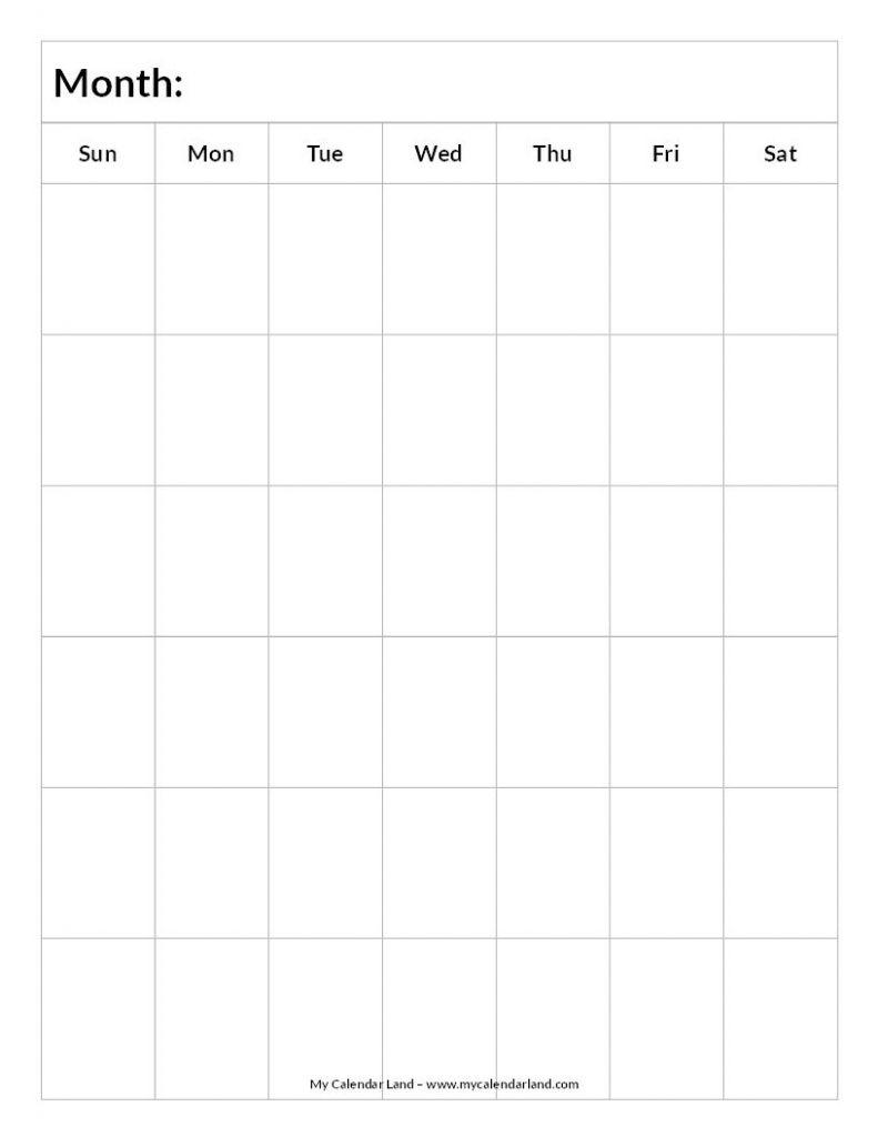 6 Week Calendar - Calendar Template 2020