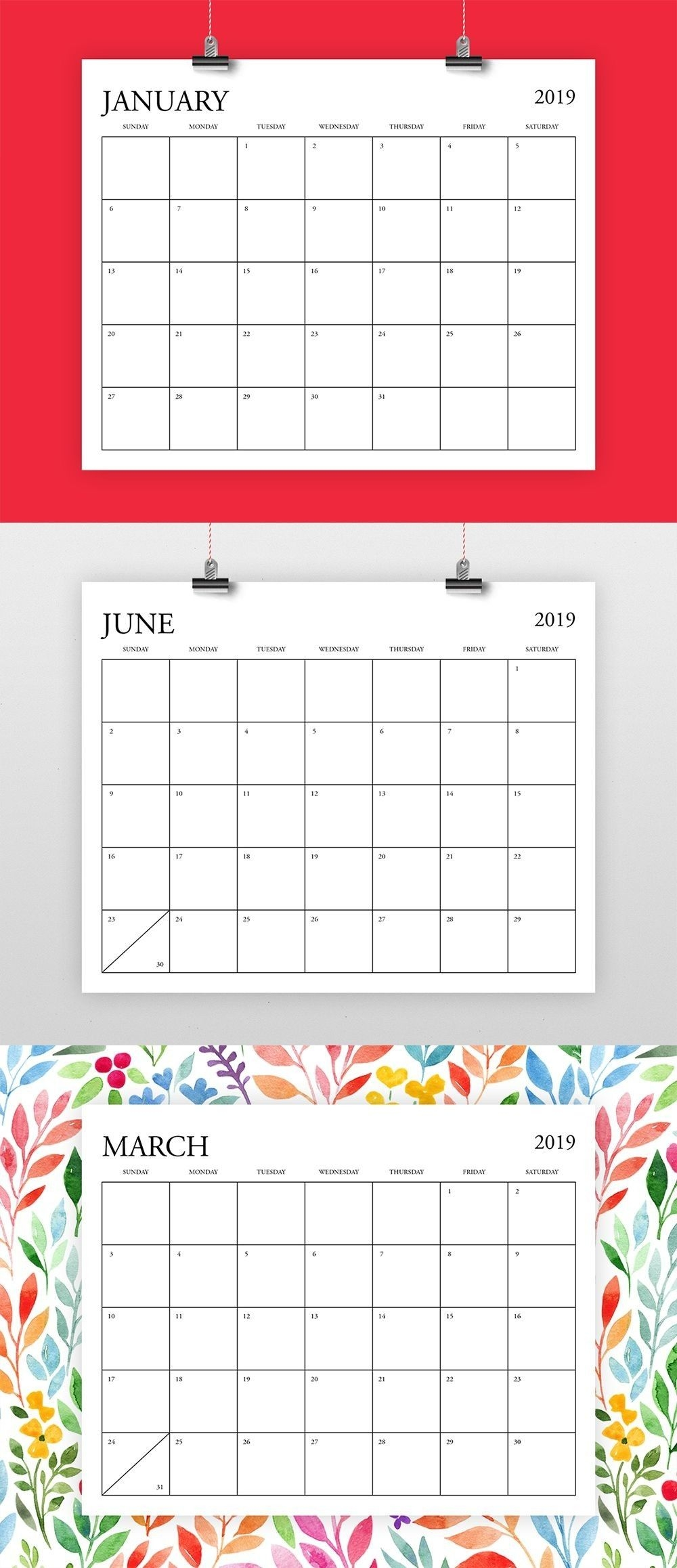 8X 10 Monthly Calaendar Printable | Calendar Template