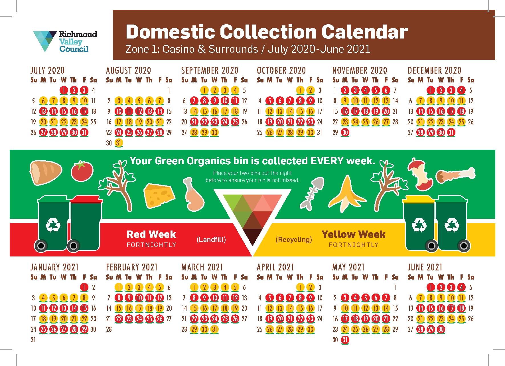 Bin Collection Day - Richmond Valley Council