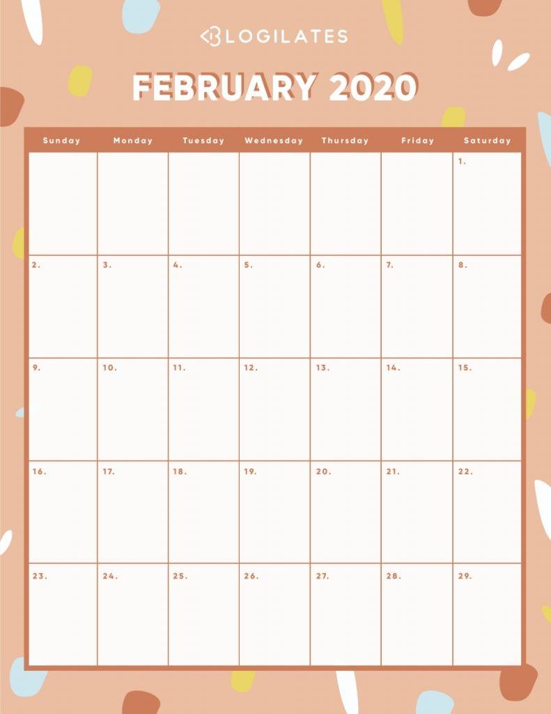 Blogilates August 2020 Challenge - Calendar Template 2020