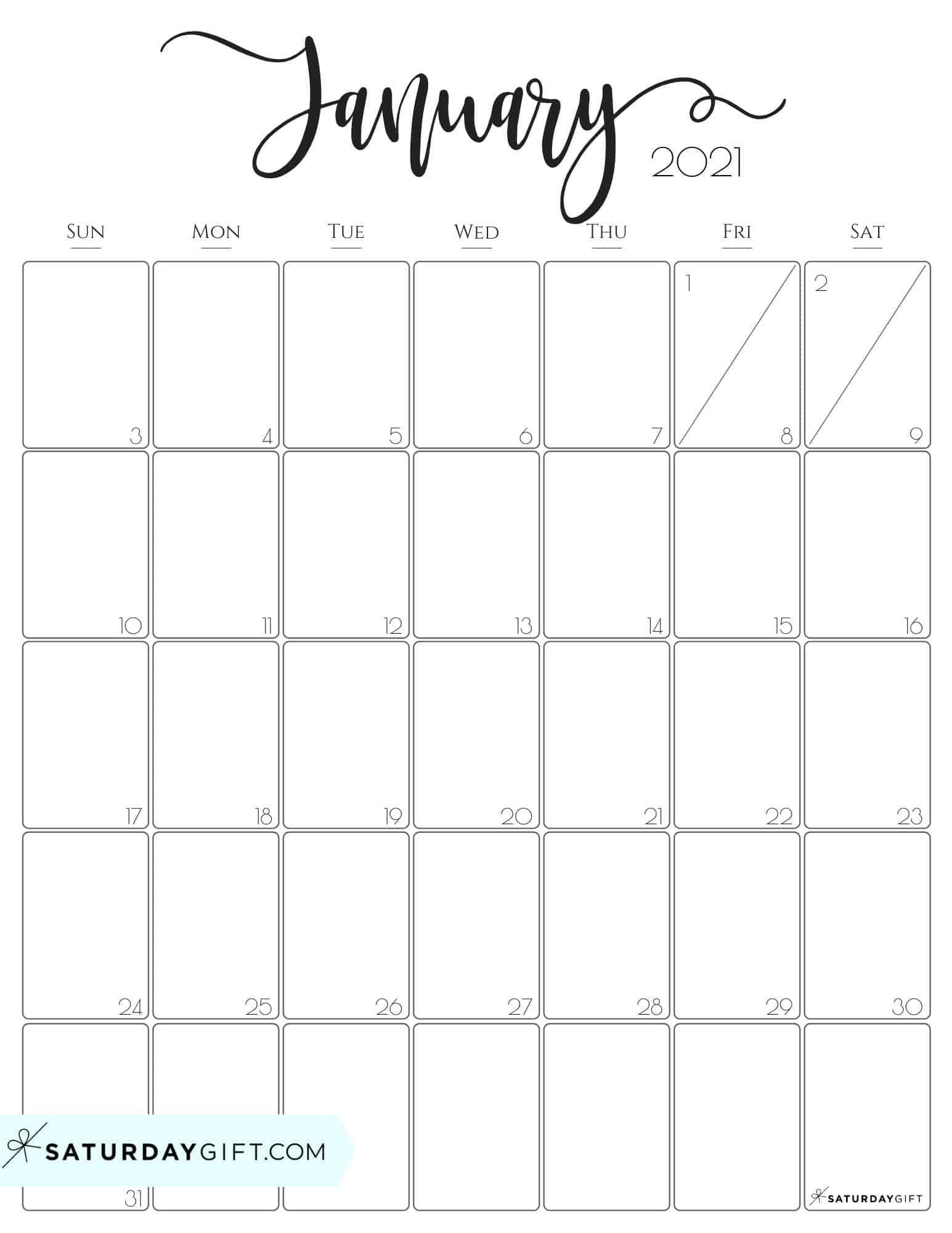 Calendar 2021 January Printable | Free Printable Calendar