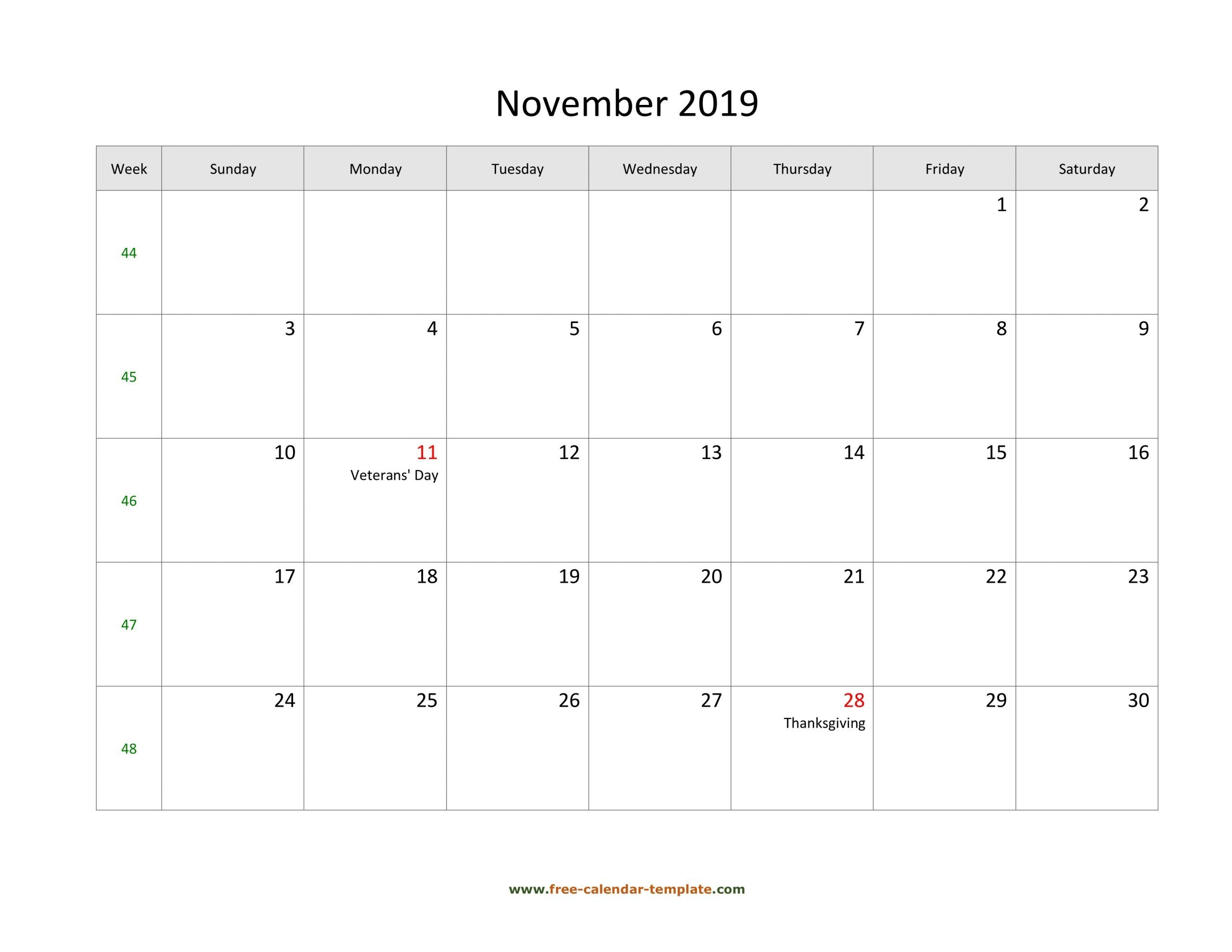 Catch Free Very Large Squares Blank Printable Calendar