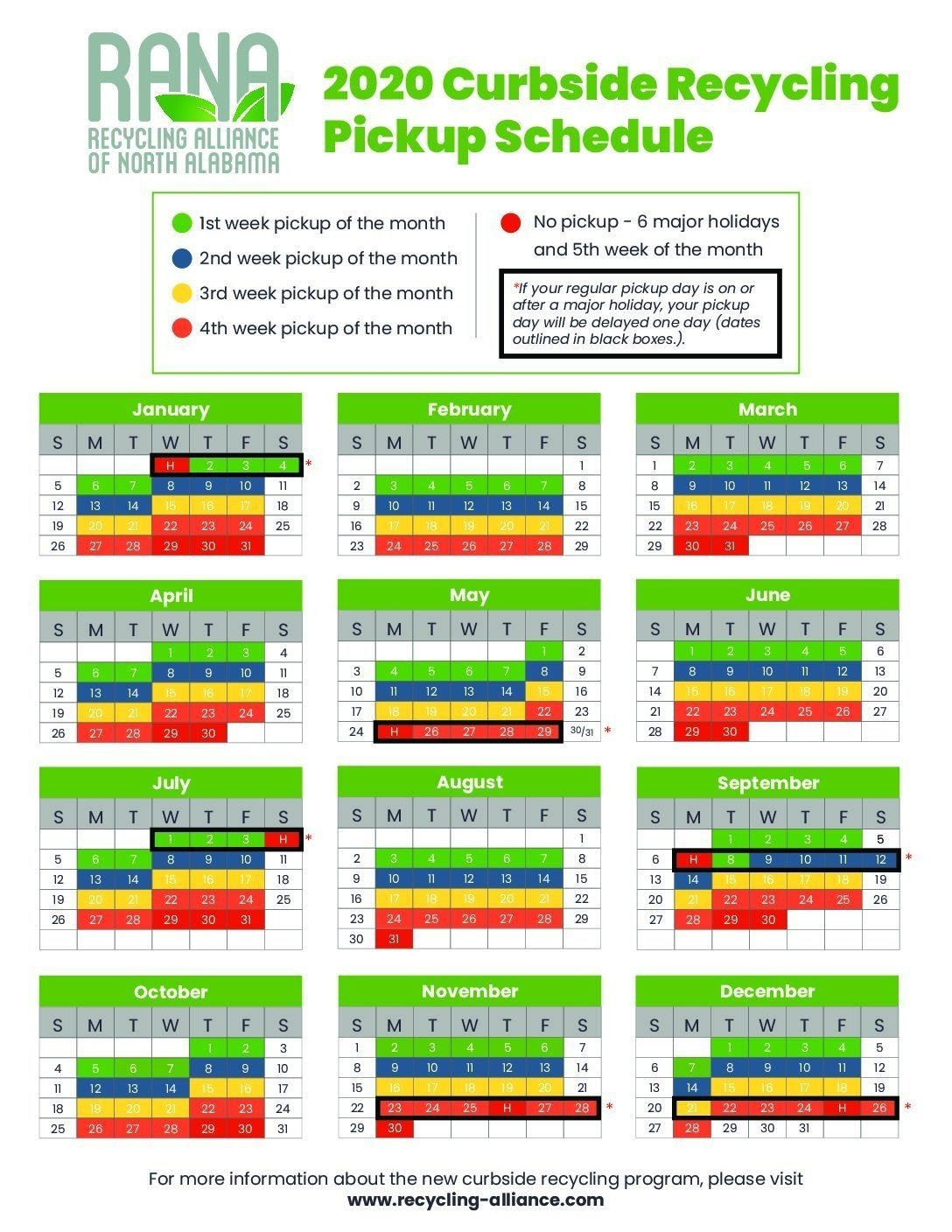 Create Your Recycle Schedule 2021 | Get Your Calendar