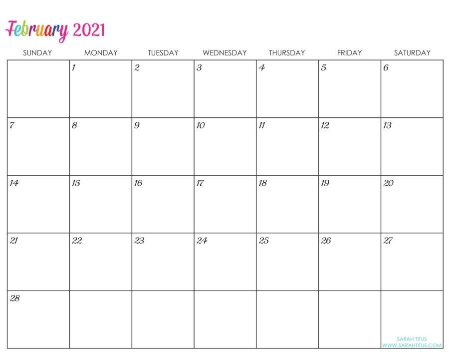Custom Editable 2021 Free Printable Calendars - Sarah