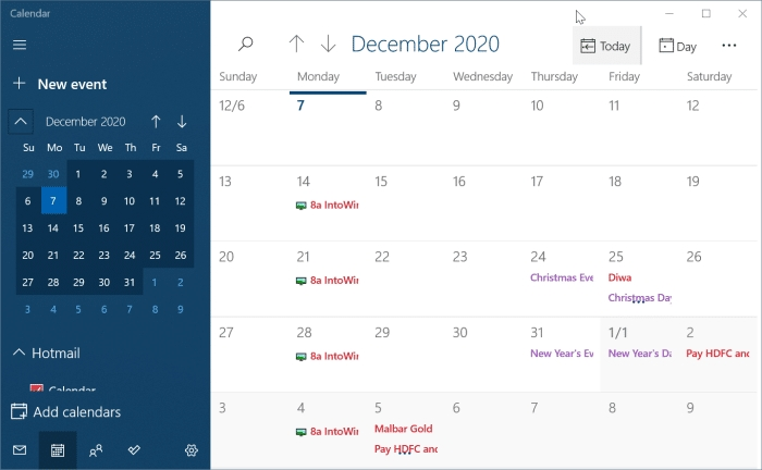 이벤트 / 알림을 추가 또는 제거하는 방법 Windows 10 일정 - Websetnet