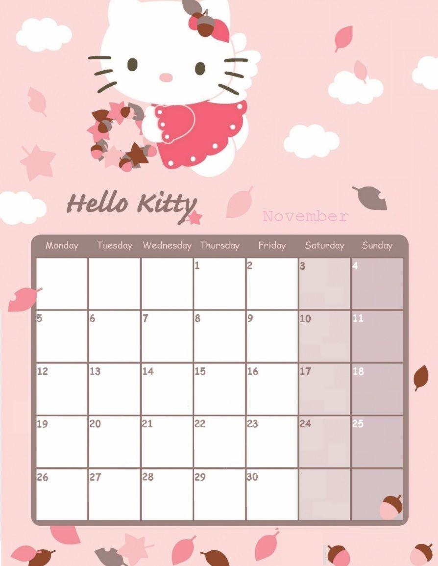 Free Printable Hello Kitty Calendar 2020 | 2021 Calendar