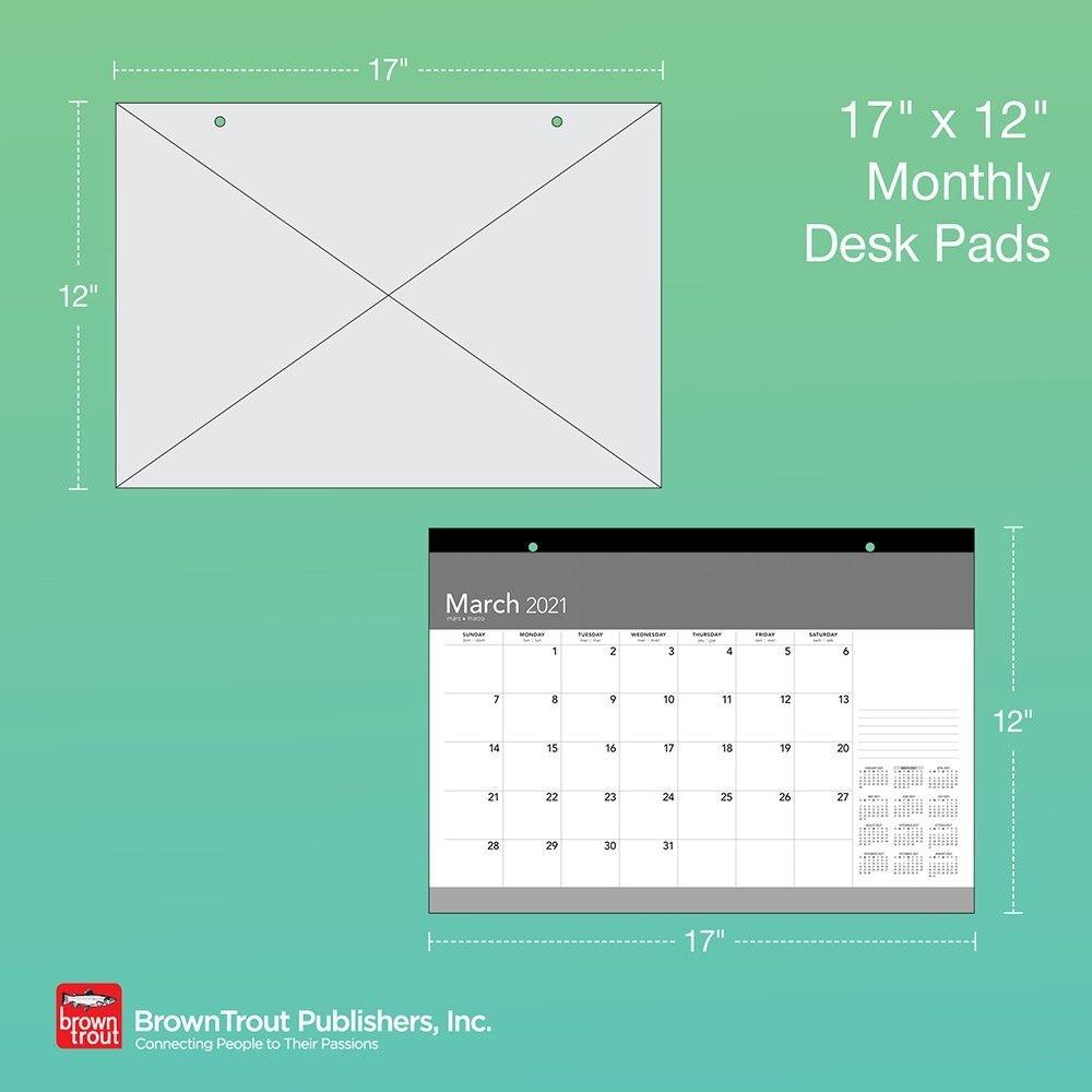 Large Print 2021 17 X 12 Inch Monthly Desk Pad Calendar