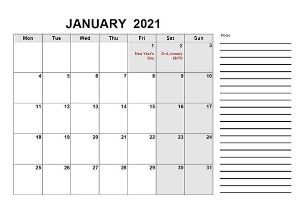 Printable 2021 Uk Calendar Templates With Holidays