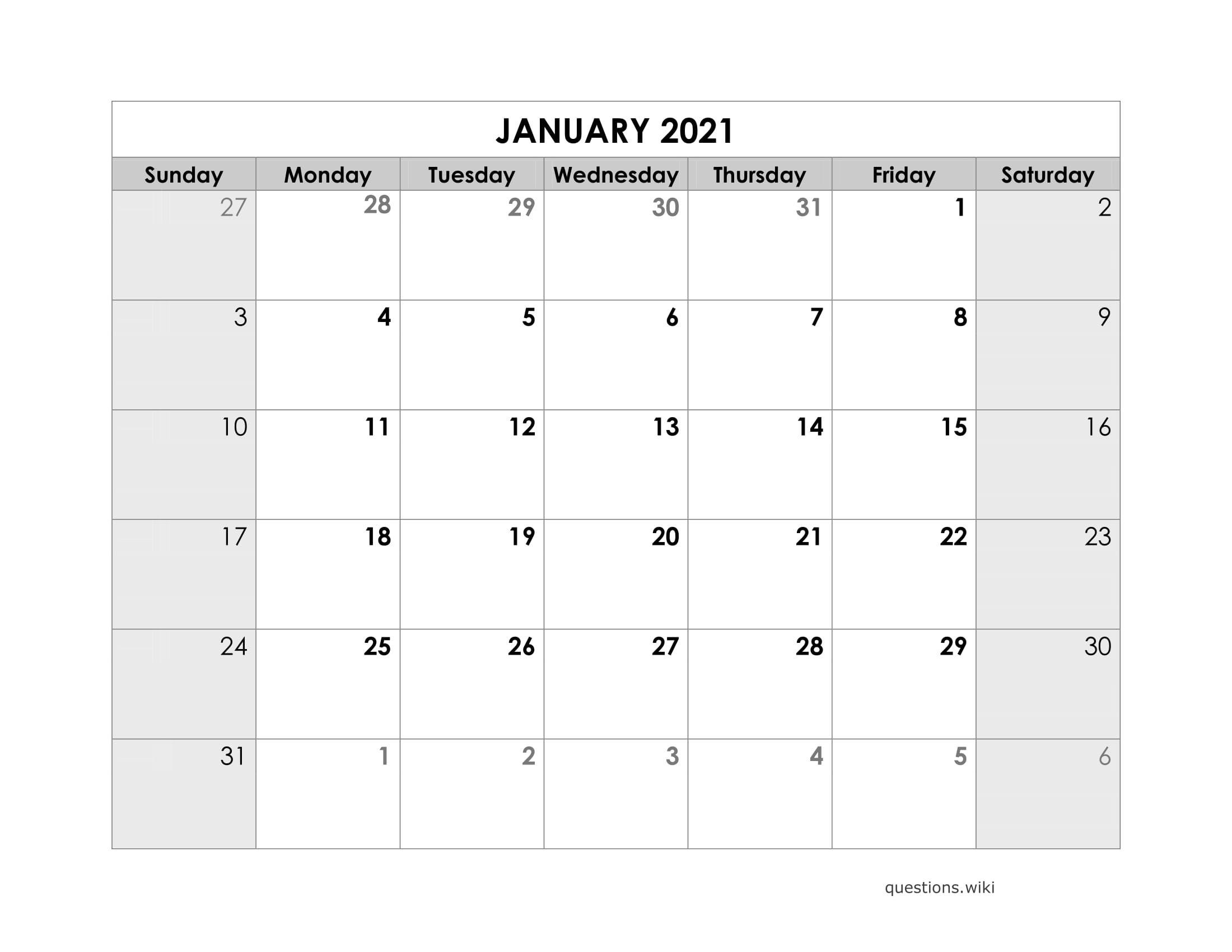 Printable Monthly Liiturgical Calendar 2021 | Calendar