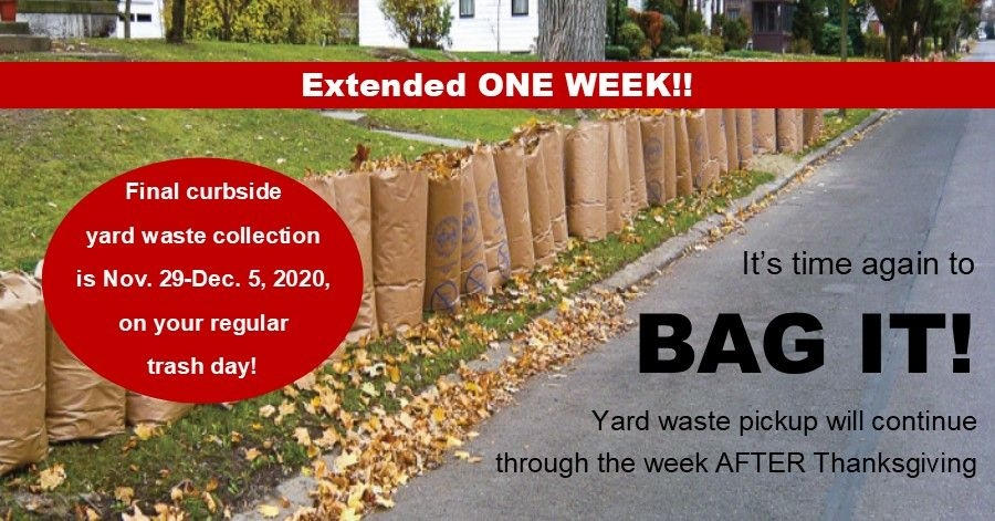 Yard Waste Collection Extended One Week; Pickup Will