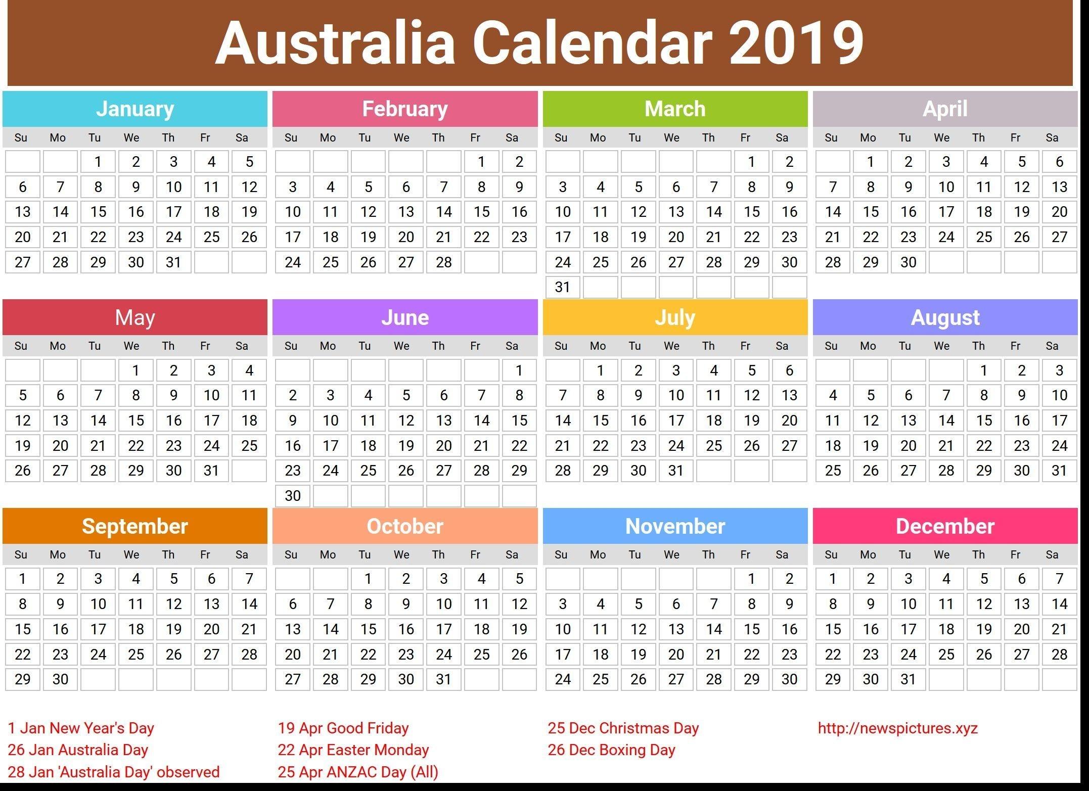 20+ 2021 Calendar Western Australia - Free Download