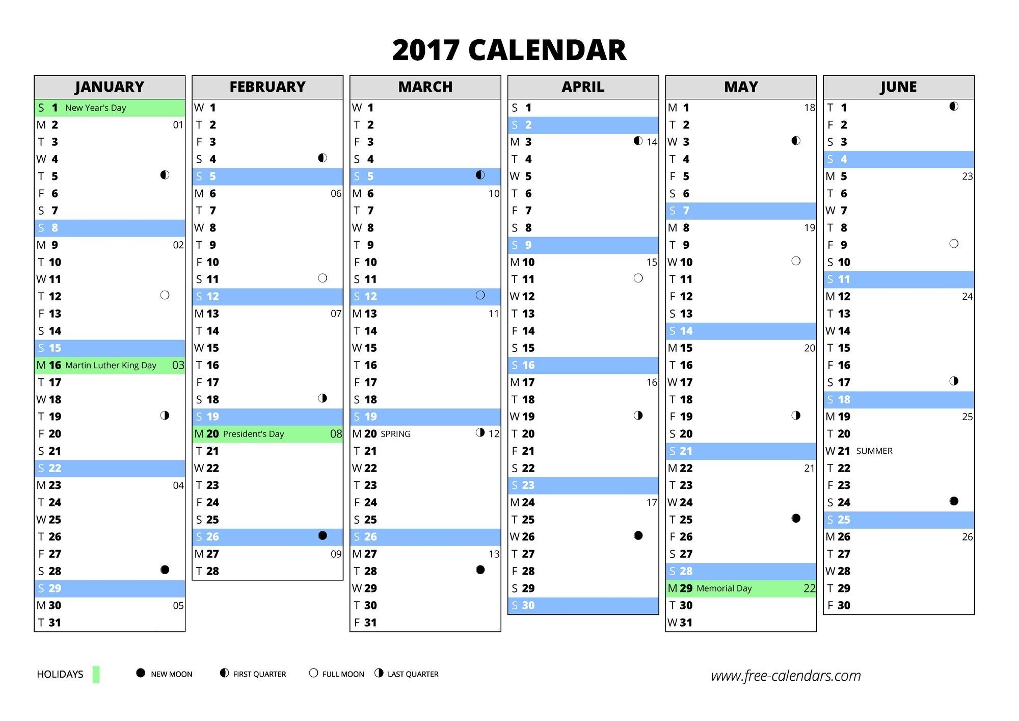 2017 Calendar ≡ Free-Calendars