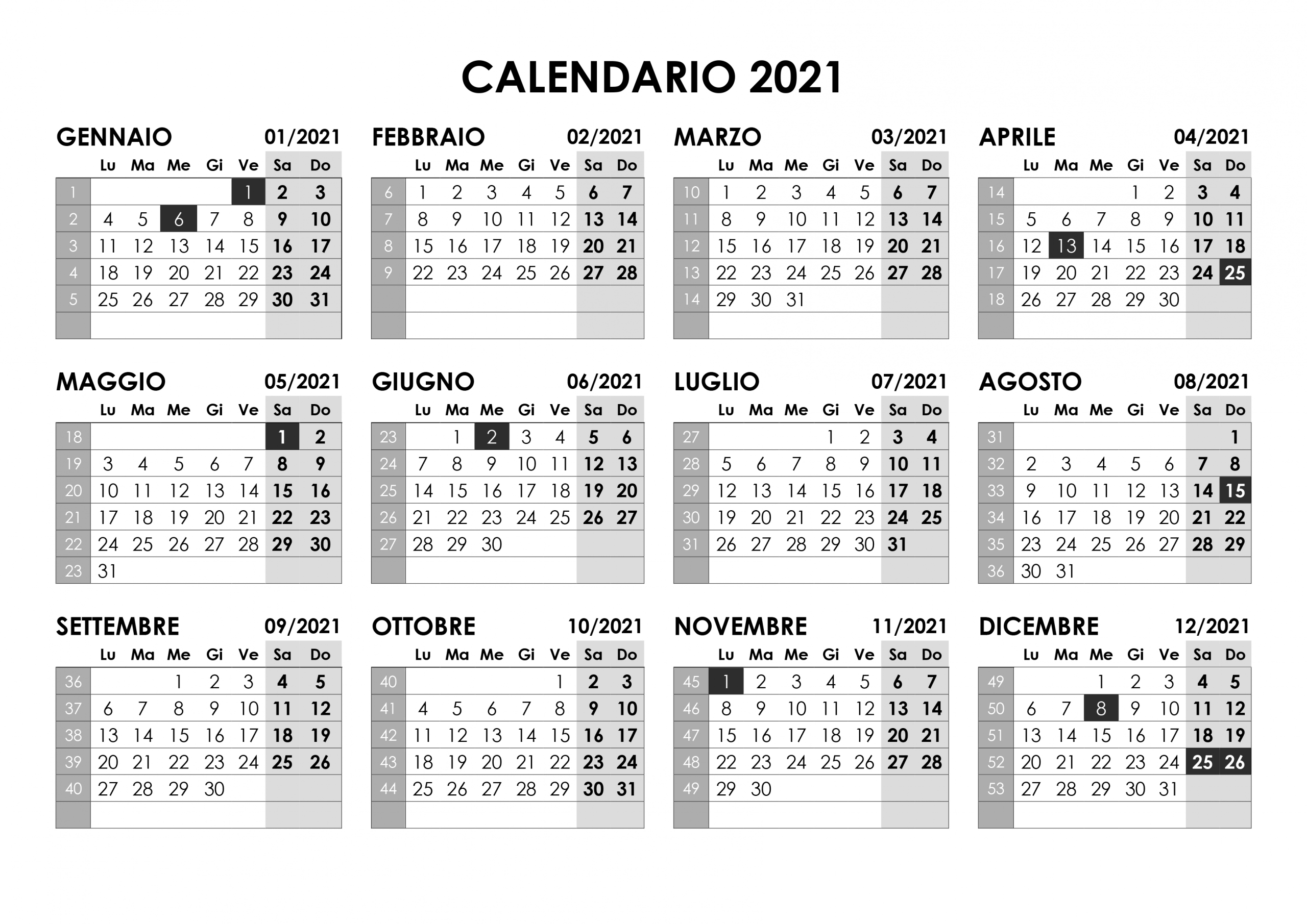 2019 Da Stampare Calendario 2021 Stampabile   2022 Calendar