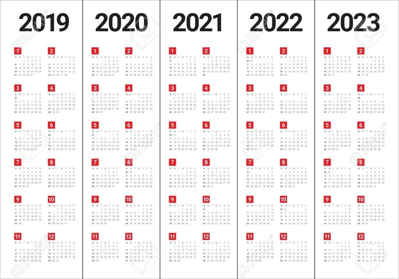 2020 2021 2022 2023 Calendar - Calendar Inspiration Design
