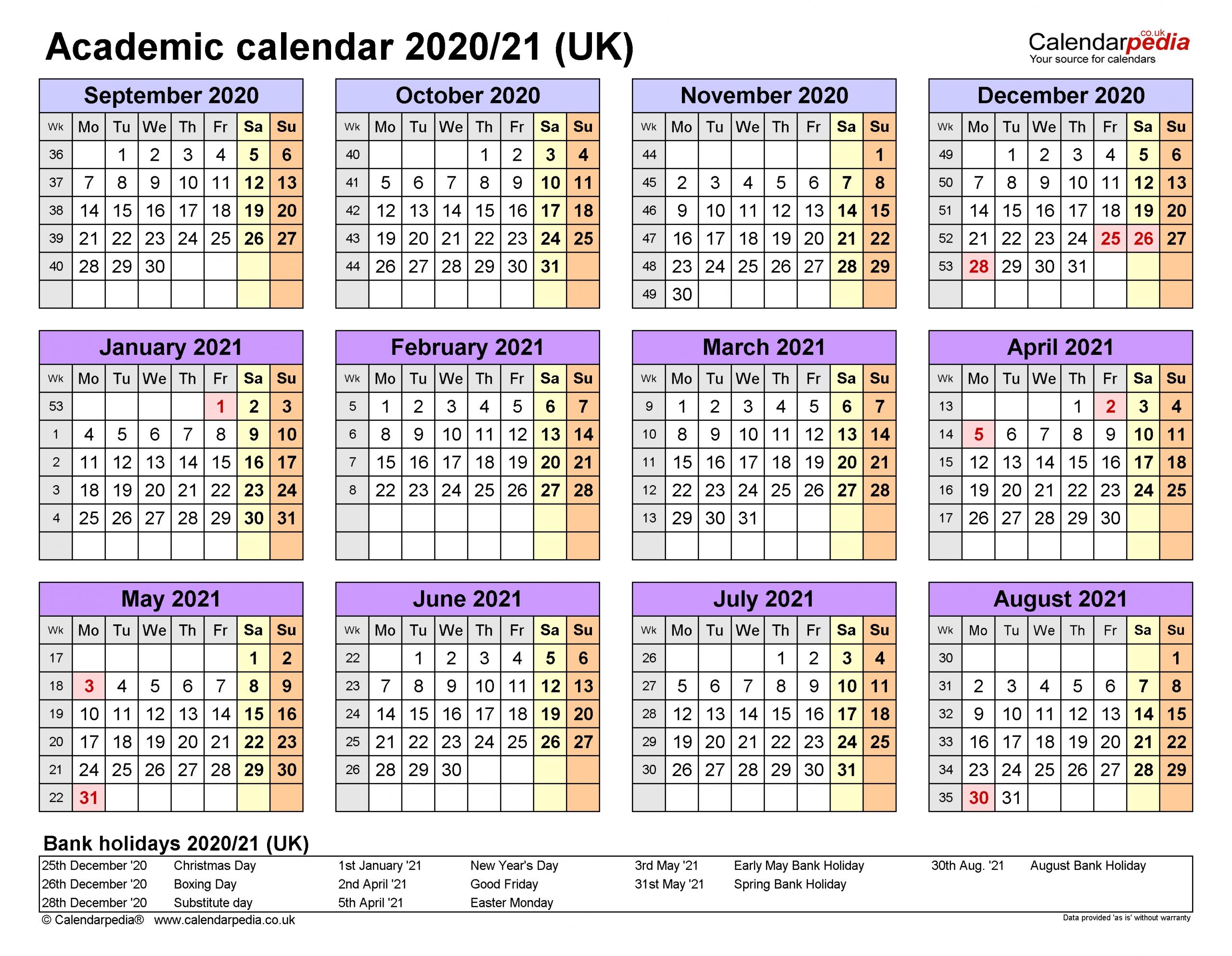 2020 And 2021 Academic Calendar Uk   2022 Calendar