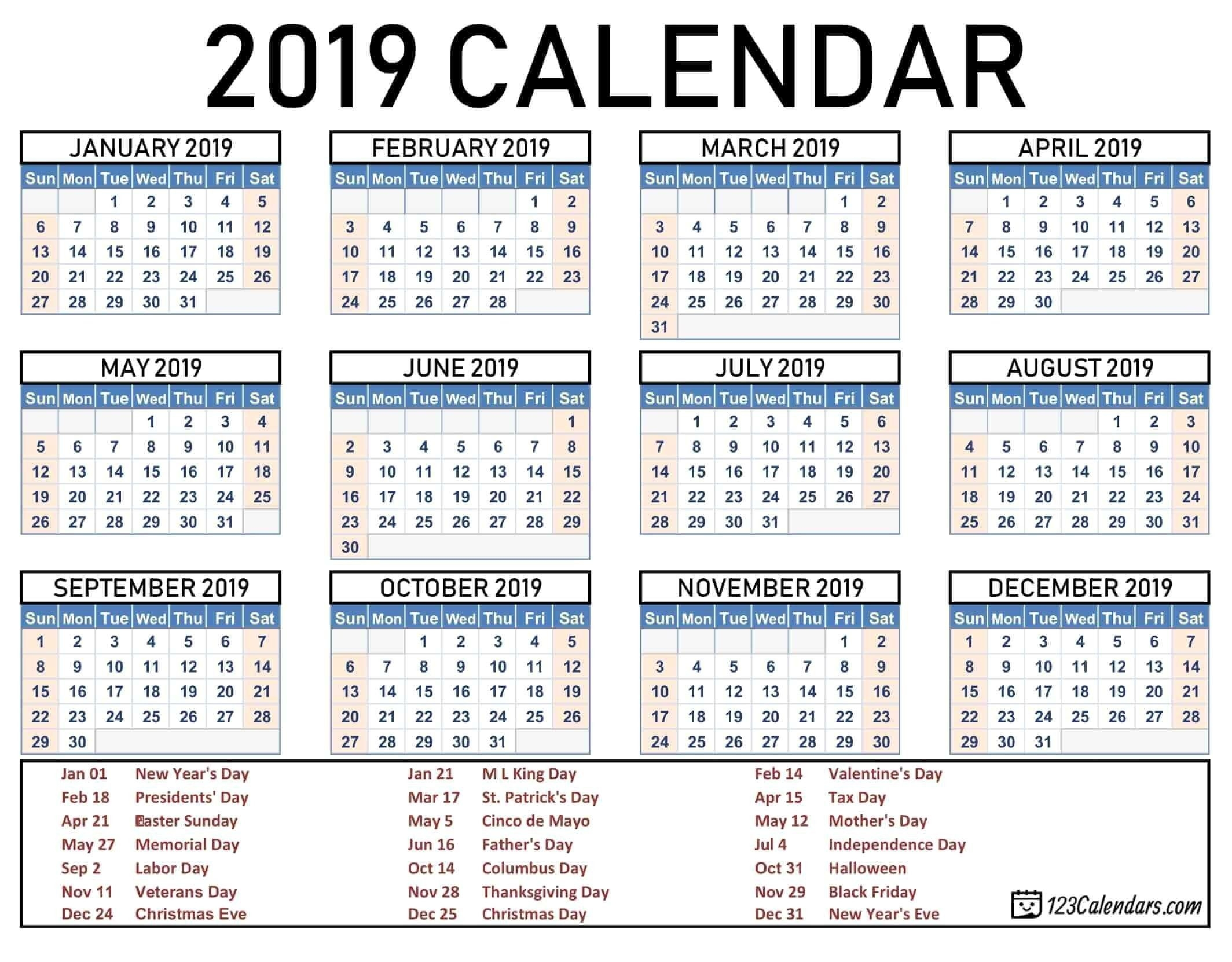 2020 Calendar With Public Holidays And School Holidays