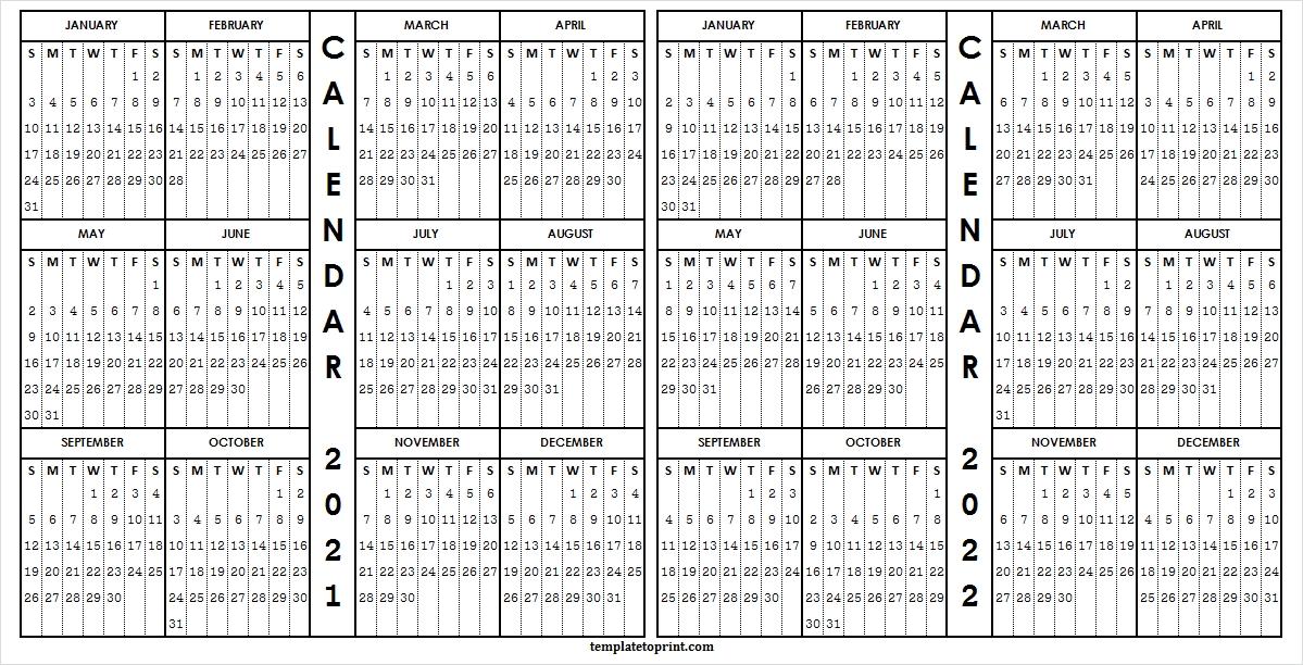 2021-2022 Academic Calendar Template - Editable Calendar Free