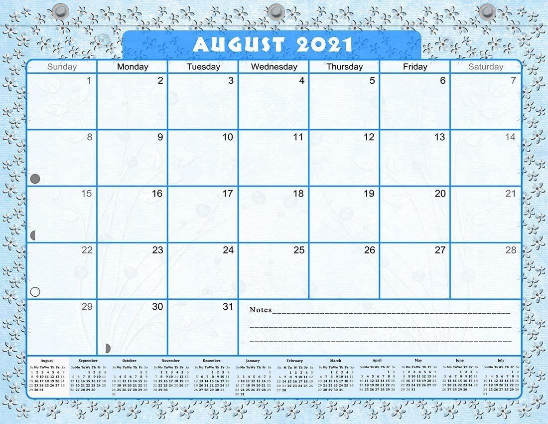 2021-2022 Academic Year 12 Months Student Calendar/Planner