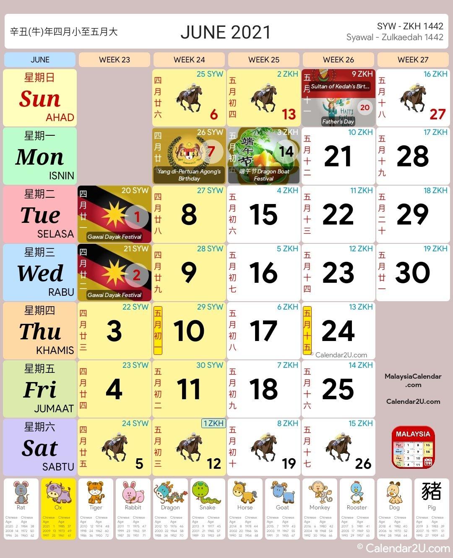2021 Calendar Malaysia Kuda | Printable March