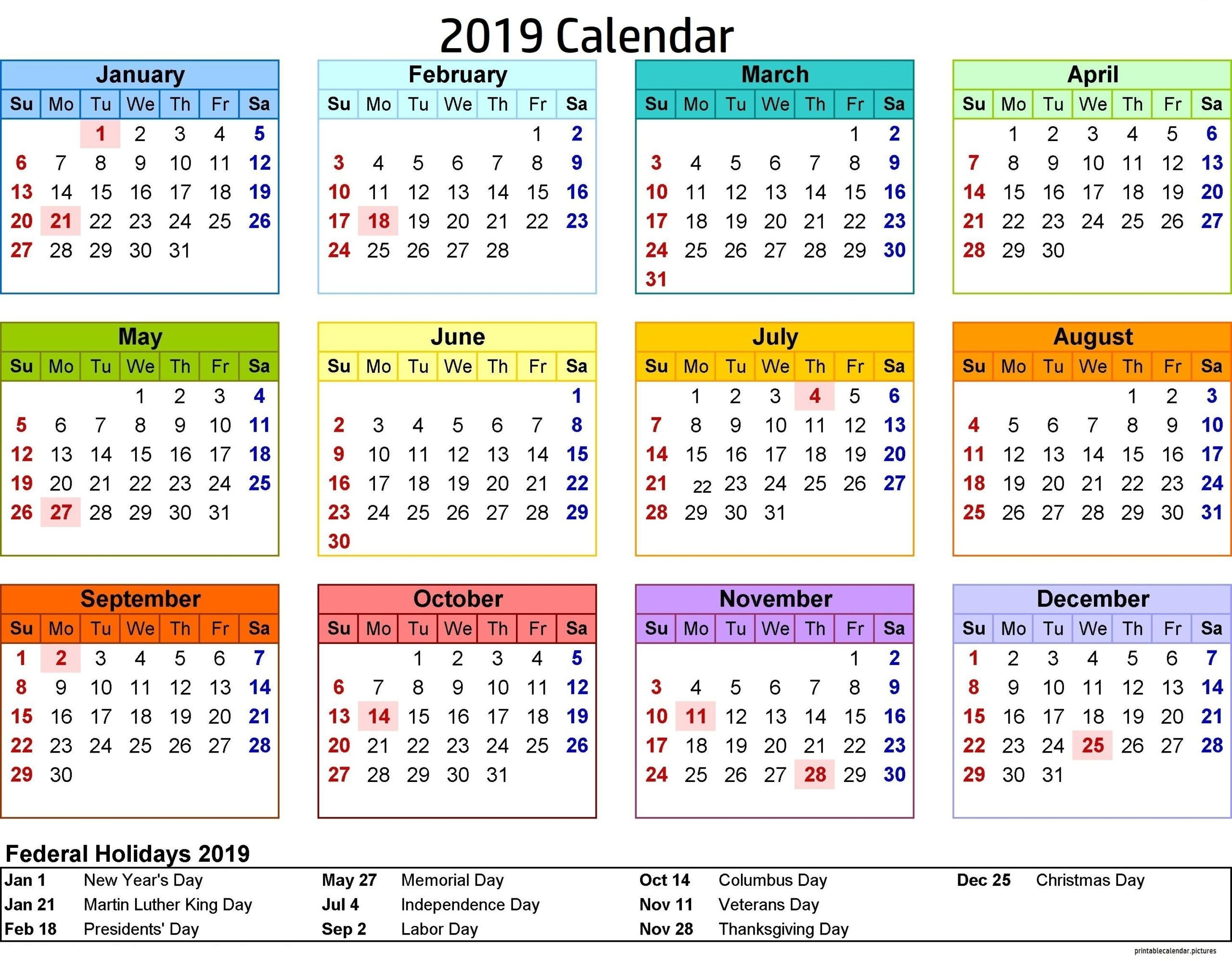 2021 Philippine Calendar With Holidays Printable | 2021
