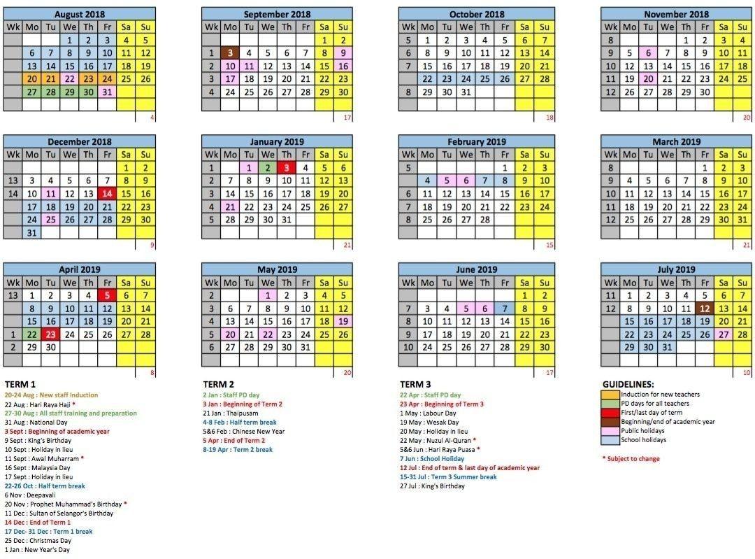 2021 School Holidays In Malaysia   Calendar Template Printable