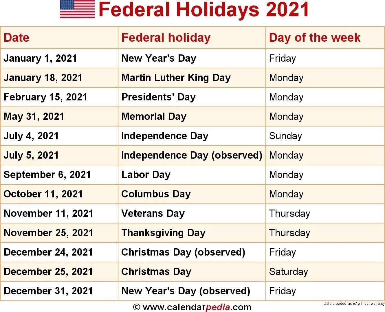 2021 United States Government Calendar | Avnitasoni