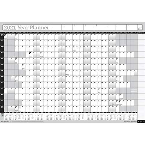2021 Yearly Annual Office Home Wall Planner Calendar Chart