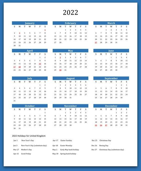 2022 Calendar With Holidays, Festivals | Calendar 2022