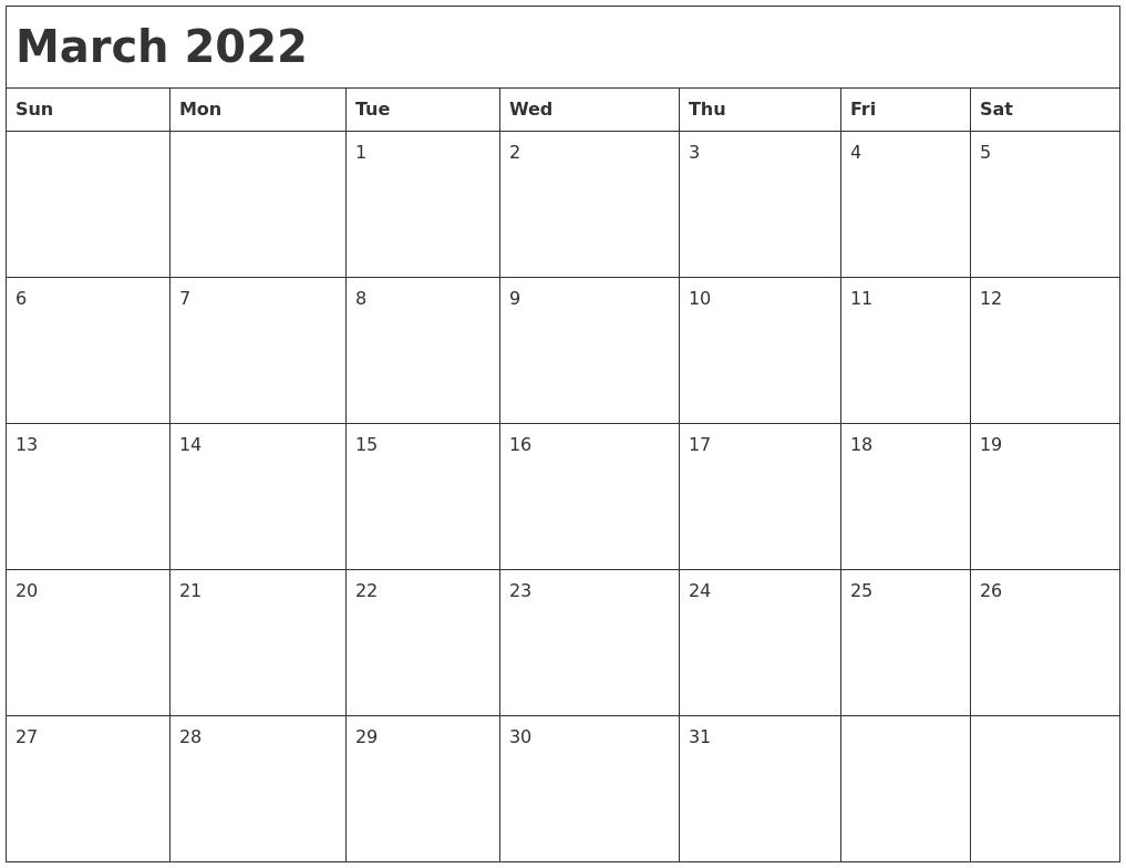April 2022 Calanders