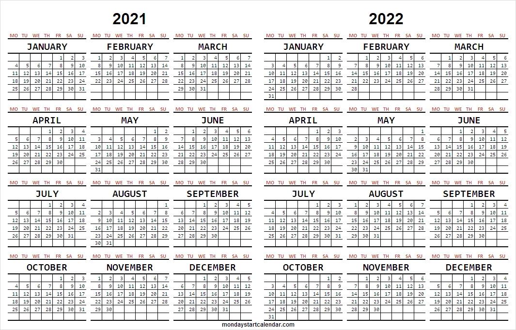 Blank 2021 -2022 Calendar Free   Academic Calendar Template