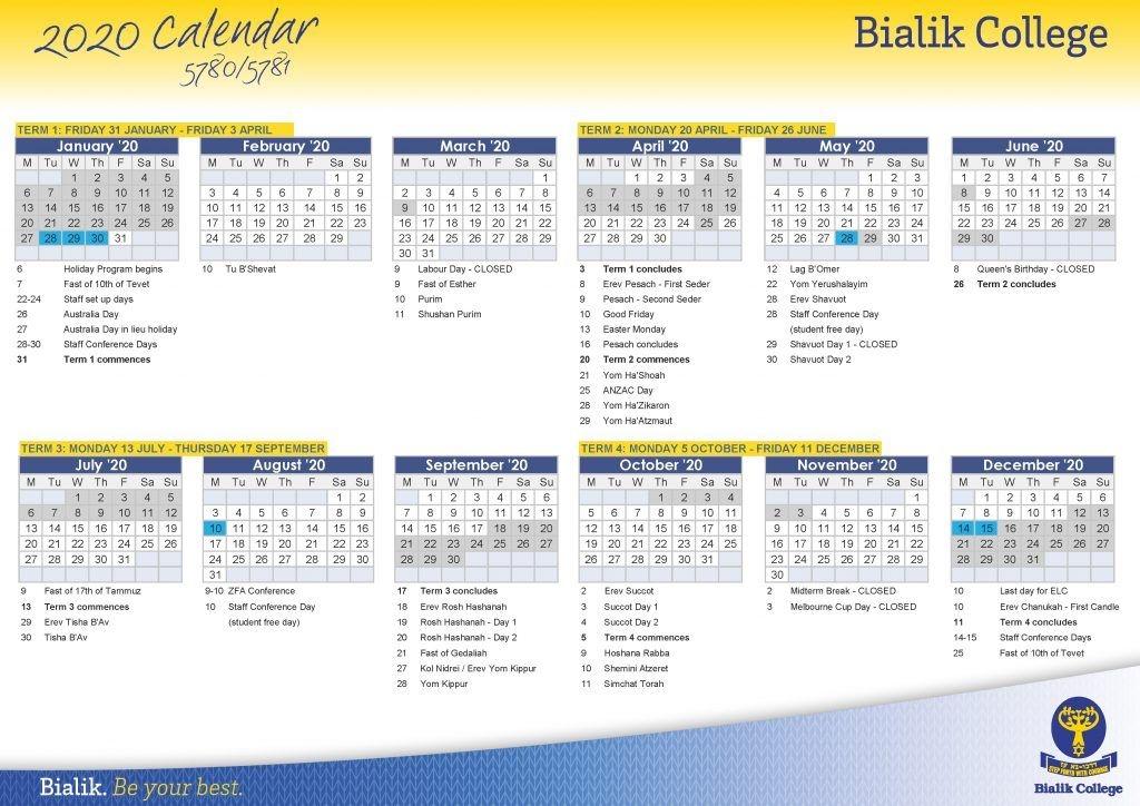 Calendar - Bialik