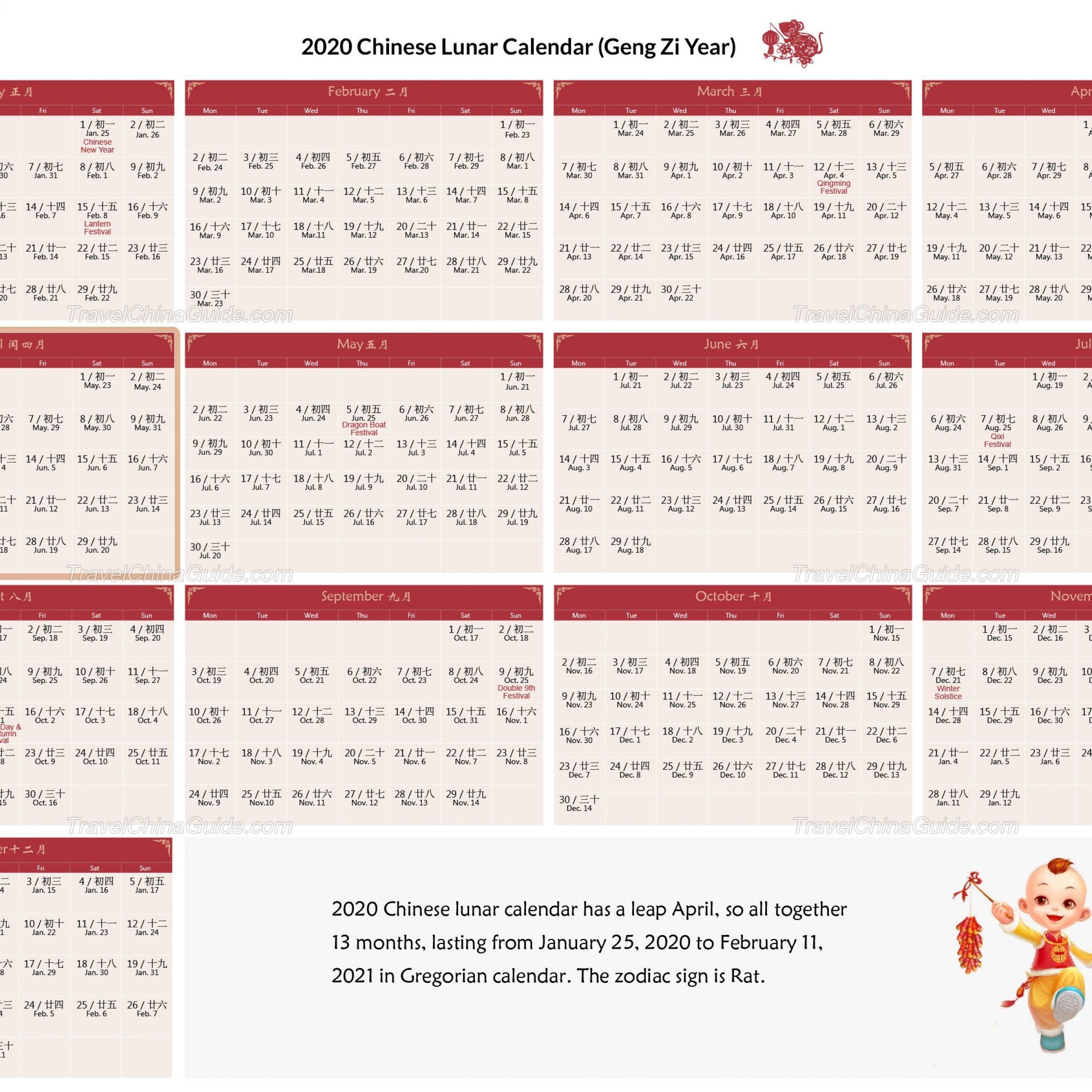 Chinese Calendar October 2020   Free Printable Calendar