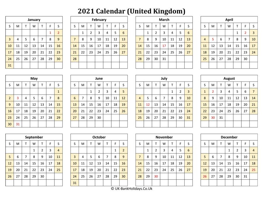 February 2021 Printable Calendar 2021 Uk - February 2021