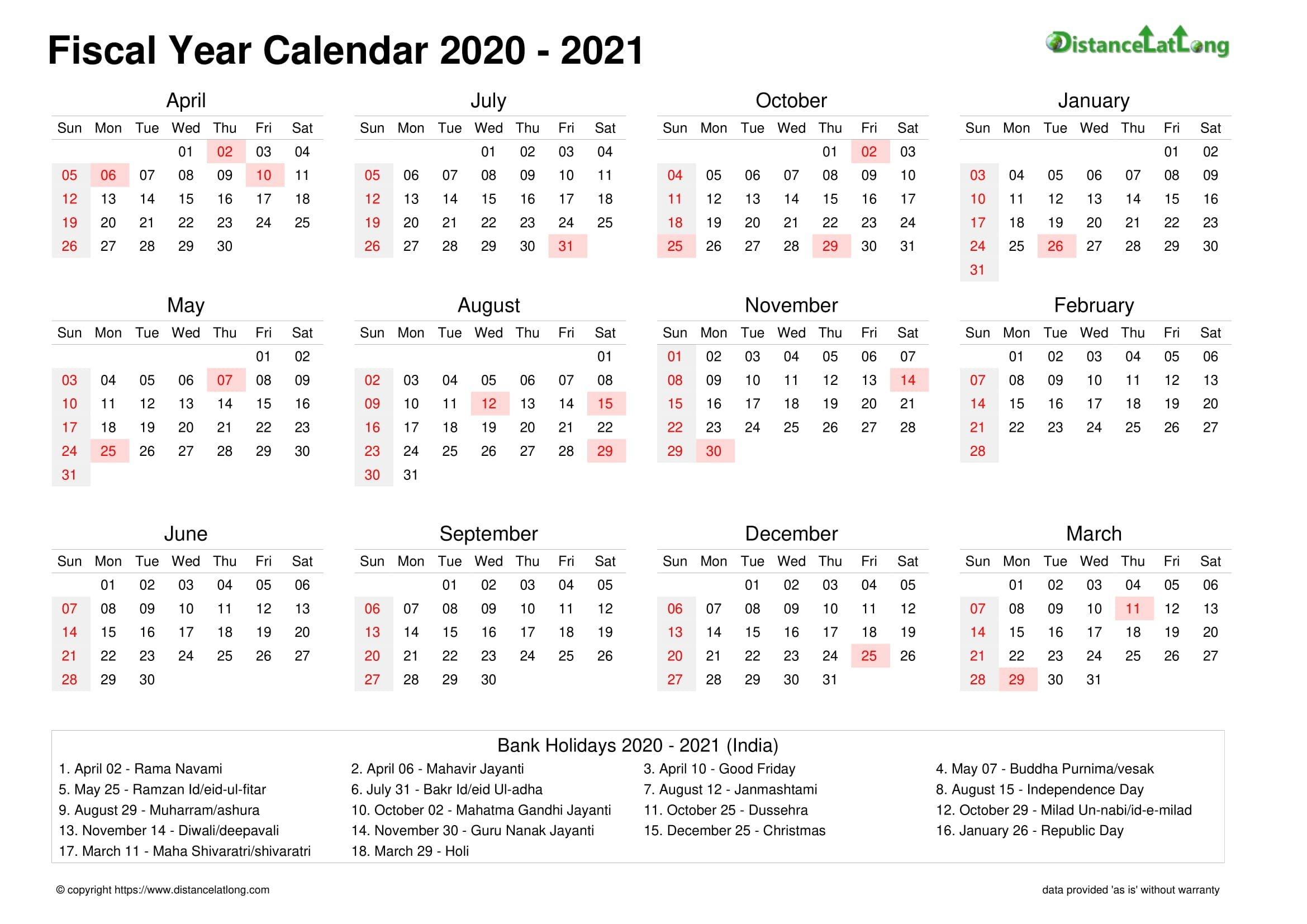 Fiscal Landscape Calendar Vertical Month Week Covered