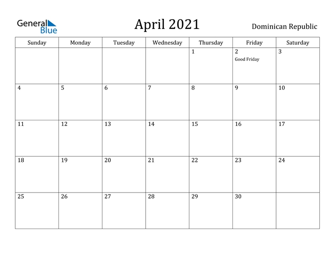 Free Printable Calendar In Pdf, Word And Excel - Dominican