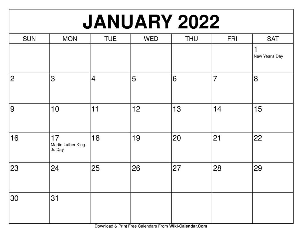 Free Printable January 2020 Calendars In 2020 | January