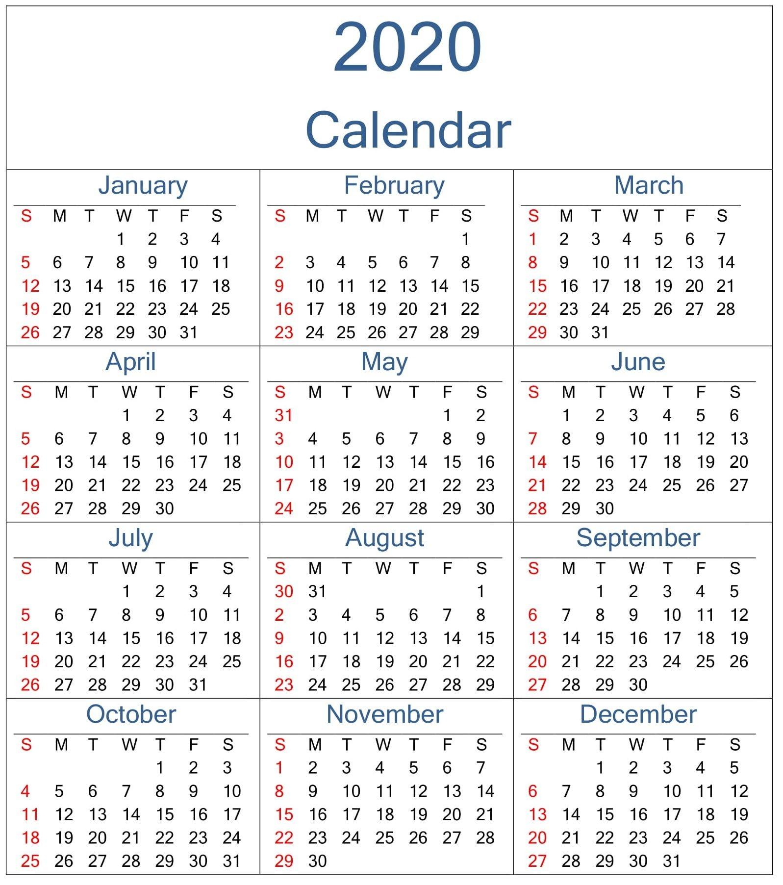Get 2020 Monthly Calinder With Week Numbers | Calendar