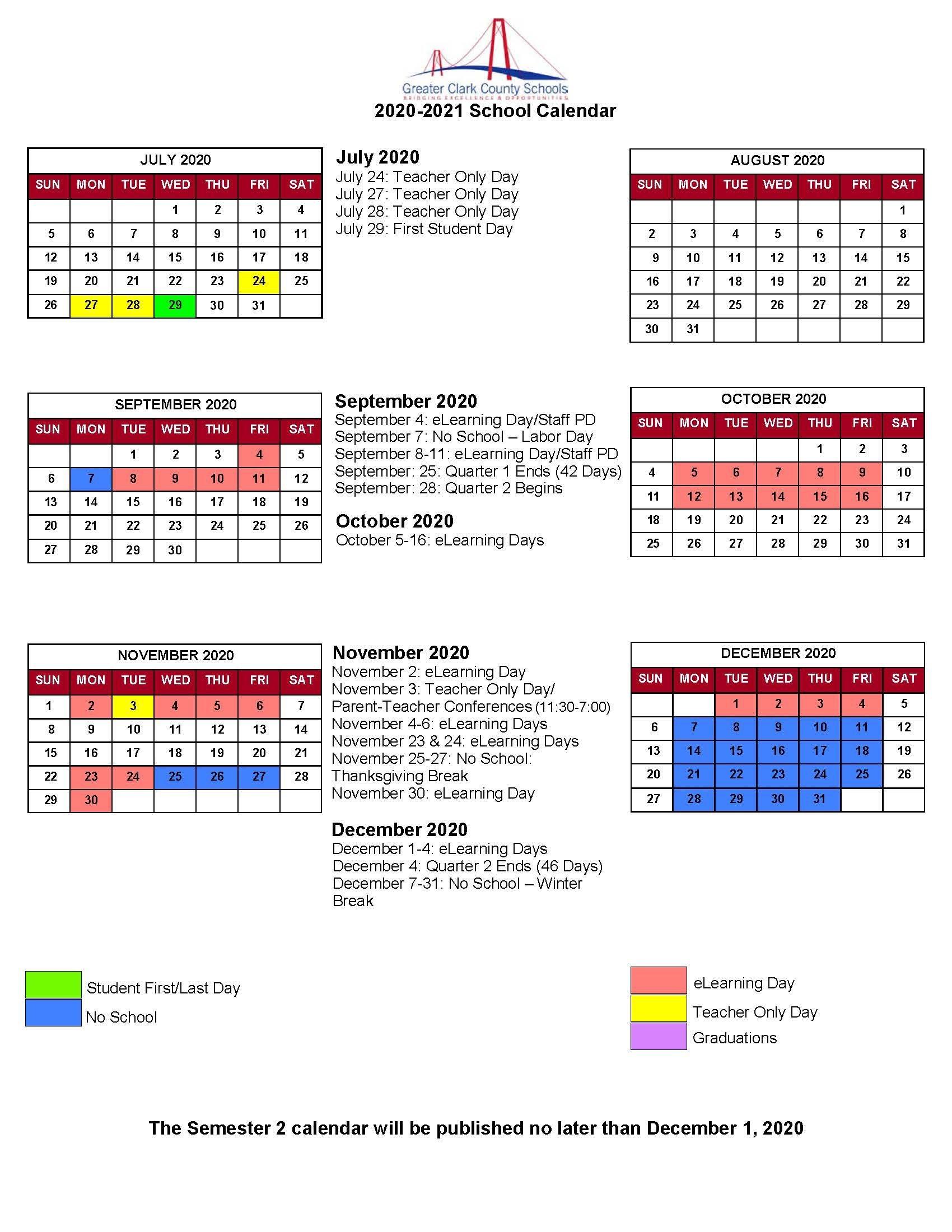 Greater Clark County Schools Calendar 2021 And 2022