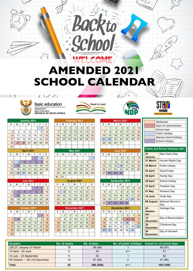 Here Is The New 2021 School Calendar For South Africa
