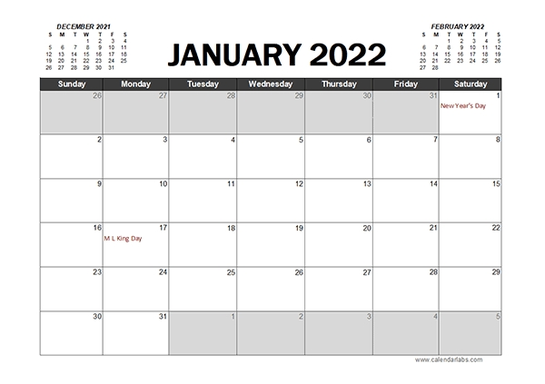 Monthly 2022 Excel Calendar Planner - Free Printable Templates