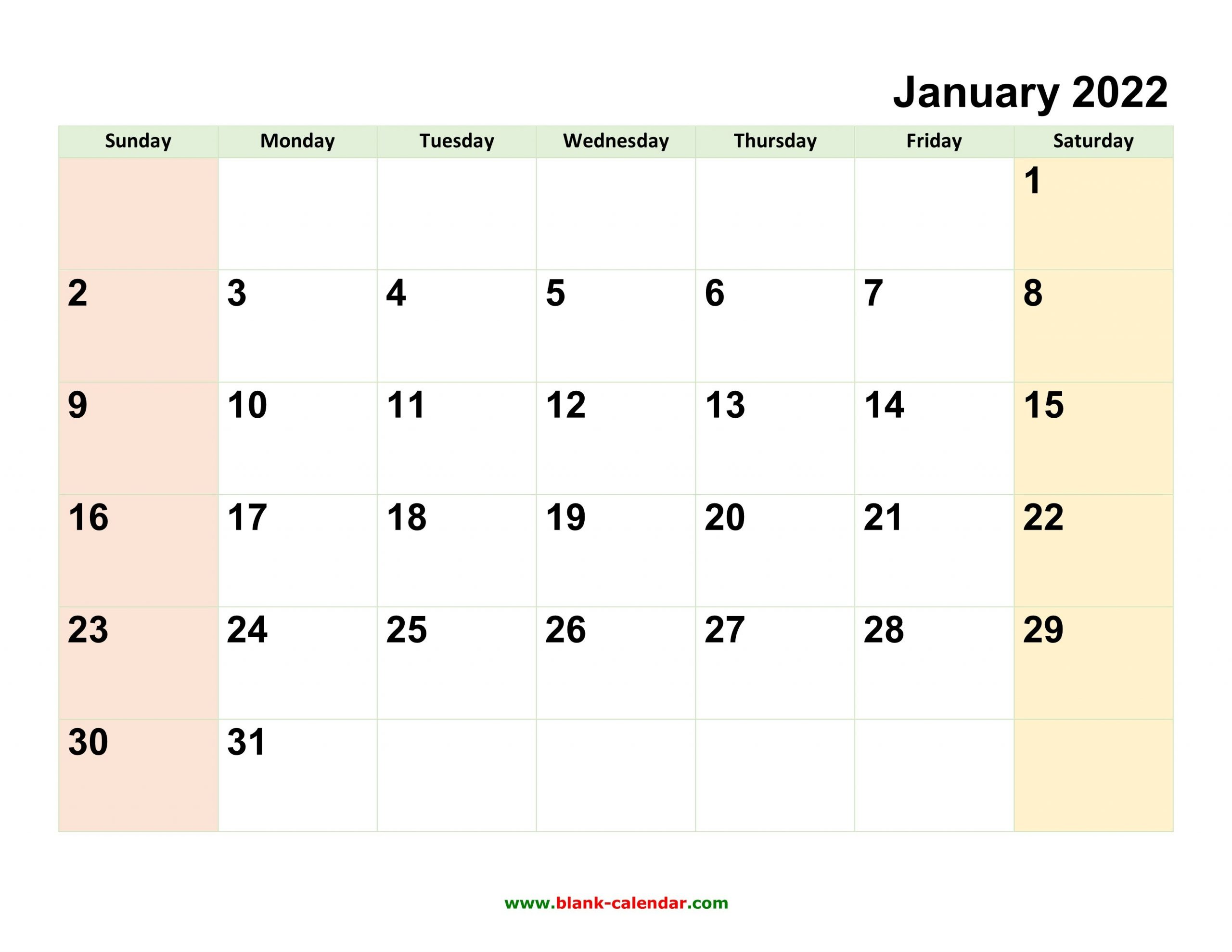Monthly Calendar 2022   Free Download, Editable And Printable