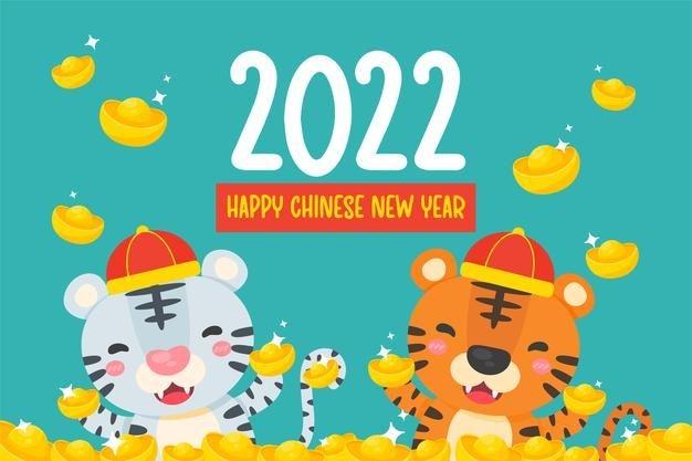 Premium Vector | Happy Chinese New Year 2022. Cartoon