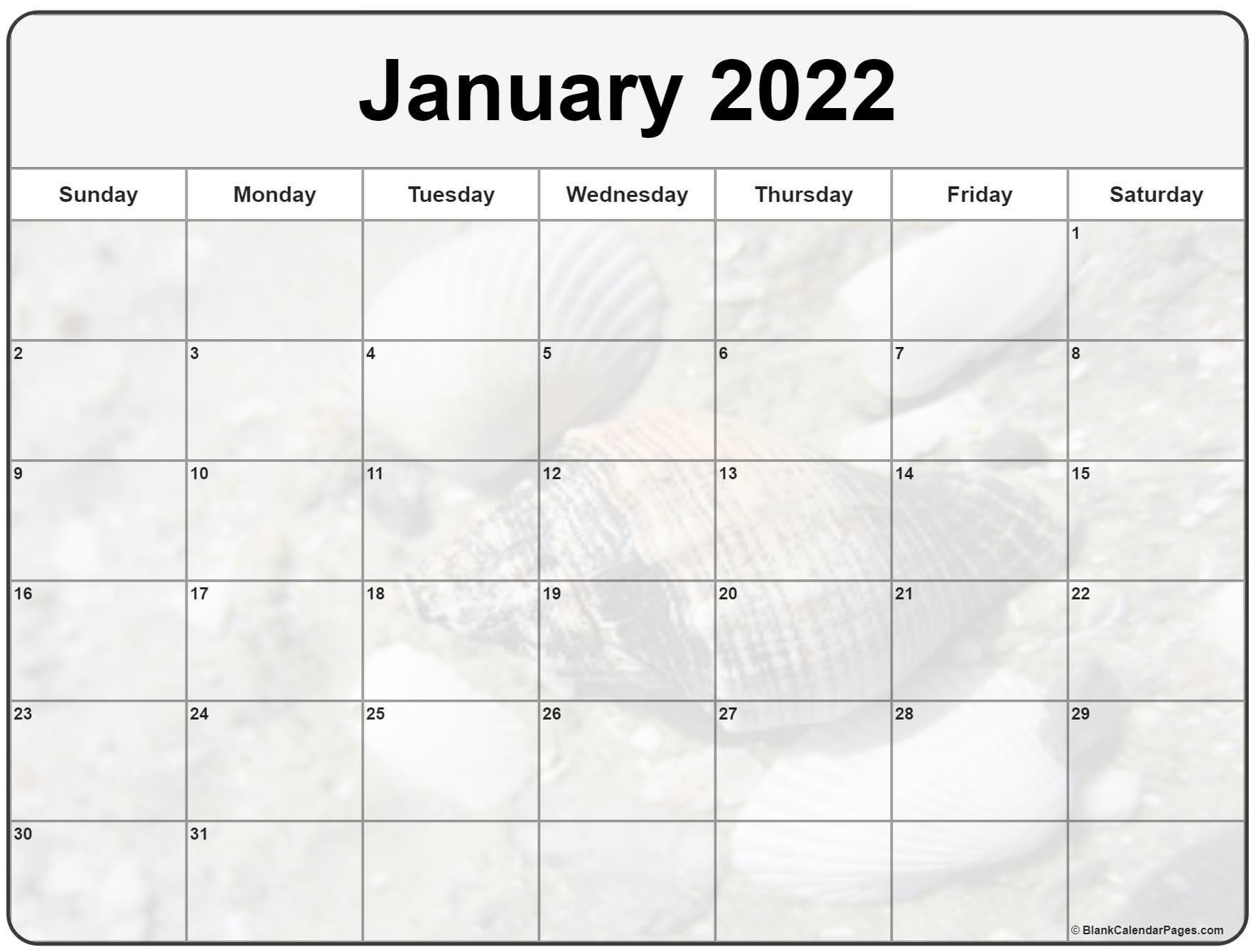 Printable January Calendar 2022   Printable Calendar 2021
