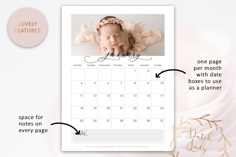 Psd Photo Calendar 2021 - Adobe Photoshop Template #1 - Crella