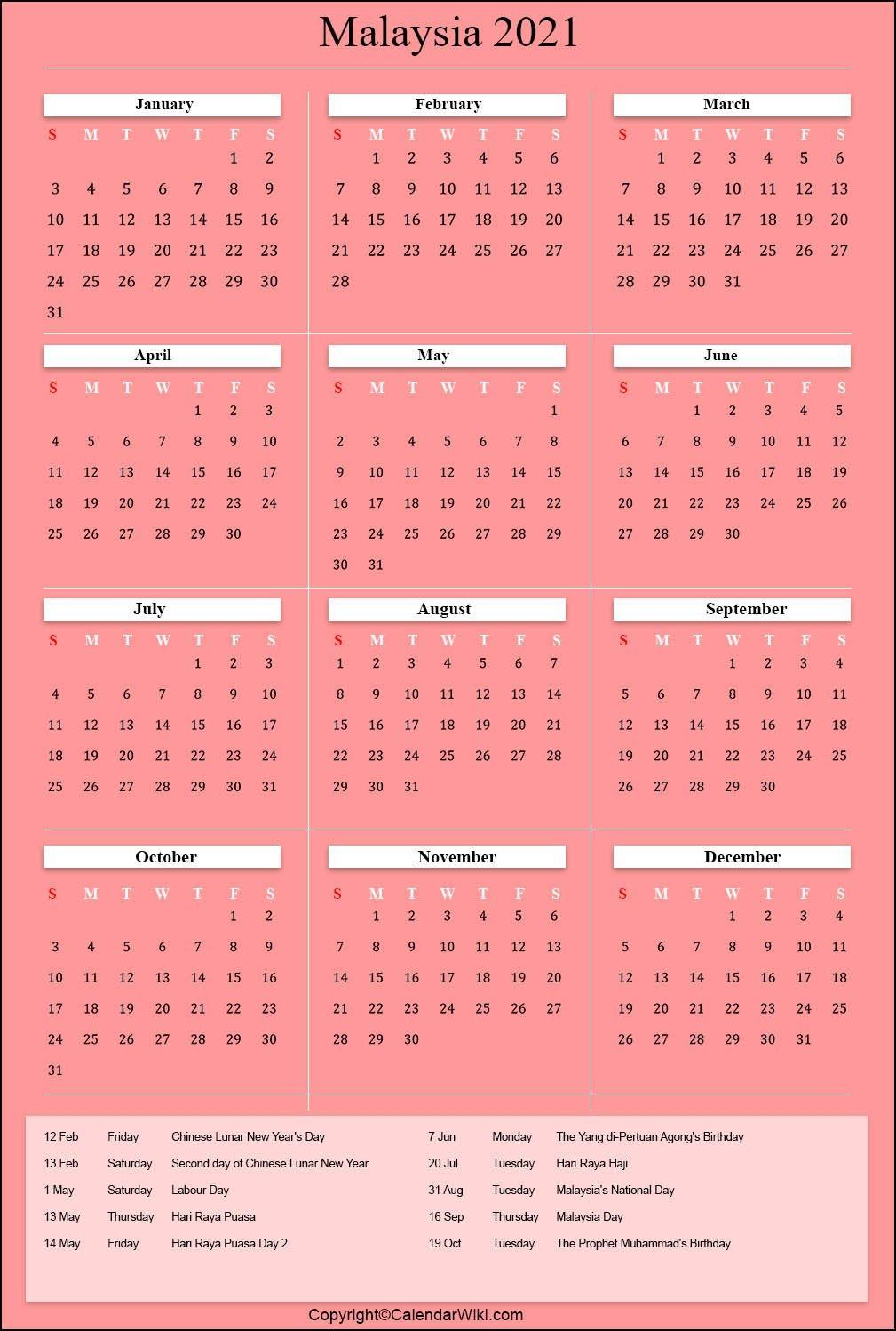 Public Holidays In Malaysia 2022