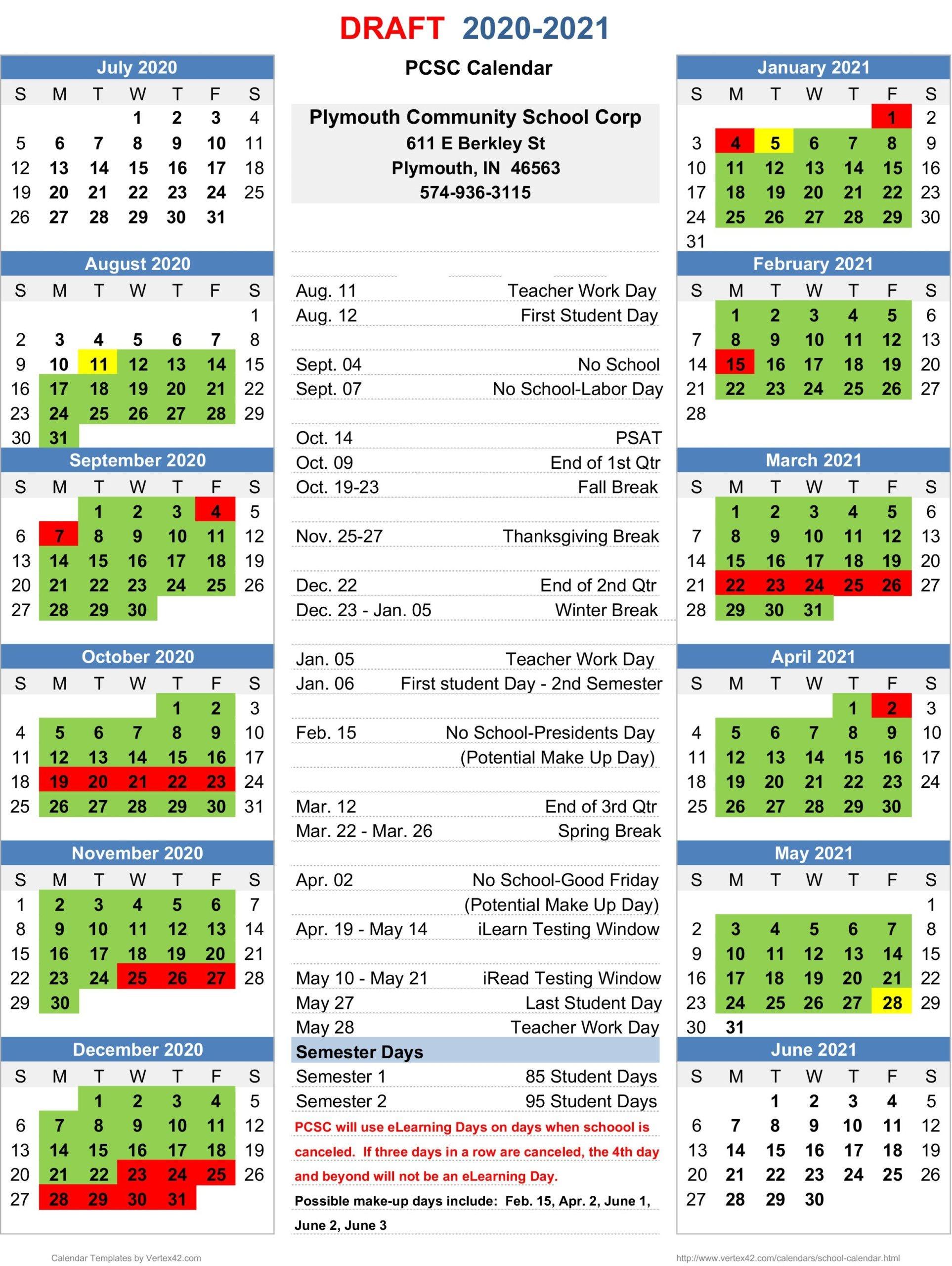 Rochester City School District Calendar 2020 2021