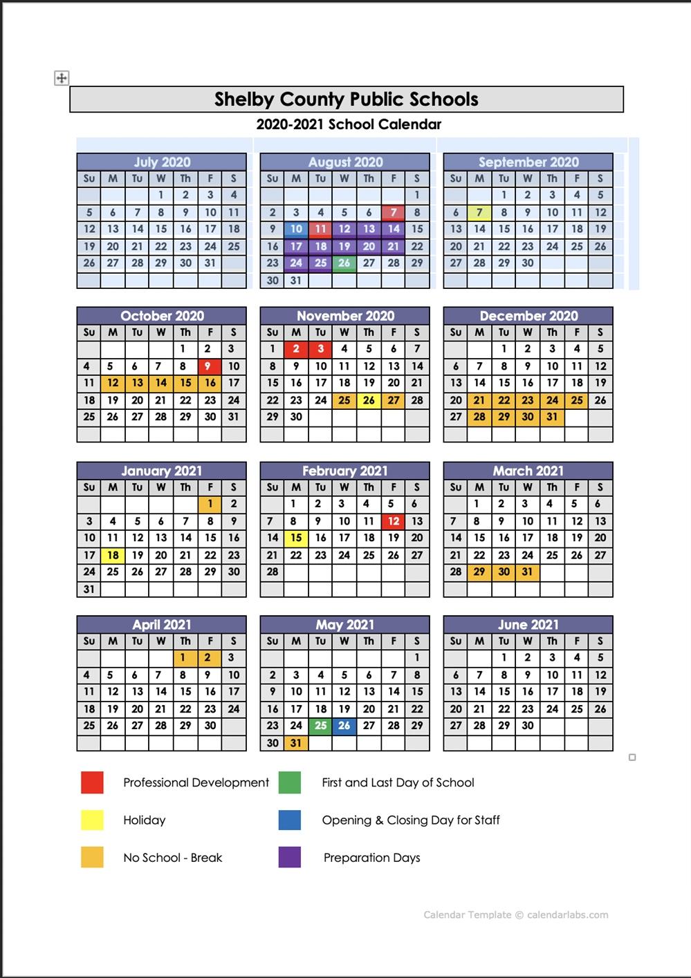 Scps Calendar 2021 | Printable March