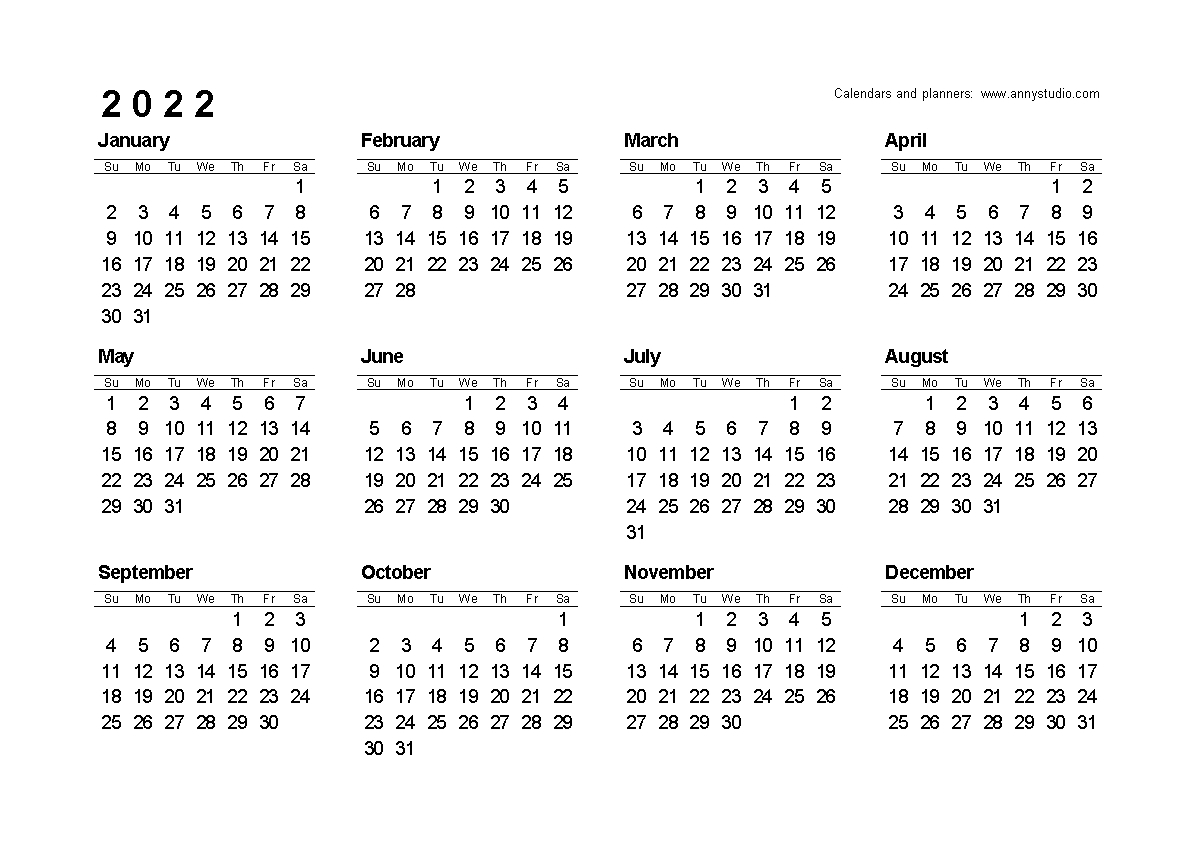 Small Yearly Calendars For 2021 And 2022 - Calendar