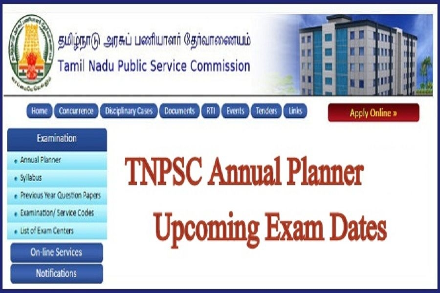 Tnpsc Annual Planner 2022-23~Upcoming Government Exam Dates